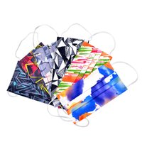 disposable face mask designer 3-layer protection and dustproof colorful masks Men Women daily printed facemask