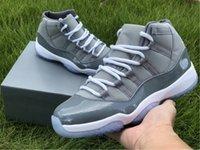 Jumpman 11 Retro Cool Grey Basketball Chaussures de basket Véritable Fibre de carbone 11s Formateur Sports Sports Stealers Fashion Venez avec une boîte