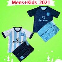 مجموعة الكبار + الأطفال 2021 Racing Club Avellaneda Soccer Jersey 21 22 BOU FERNANDEZ 2022 FERTOLI CHURRY ROJAS بنين بدلة الأرجنتين قميص كرة القدم للأطفال مجموعة رجالي