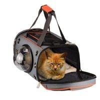 Portadores de gato, casas casas de cão de estimação saco de portador de cão forma espaço respirável bolsa filhote de cachorro Outdoor viagem ombro macio canil cães pequenos c