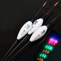 Accessori da pesca elettrica luce notturna galleggianti ad alta sensibile composito luminoso composito nano tappo pesca fising bobber