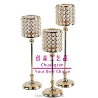 Candle Holders Wedding Centerpiece Event Deco Metal Candlestick Gold Stand Home Decoration Flower Vase Party Favors