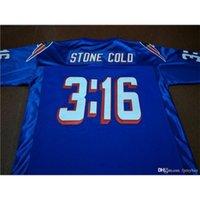 Custom Bay Youth Kadınlar Vintage Stone Soğuk Steve Austin # 3:16 Takım Blu Futbol forması Boyut S-5XL veya özel herhangi bir isim veya numara forma