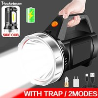 Portable Lanterns Potable Handheld 2 Modes Work Light With Side USB Rechargeable Lamp Waterproof Searchlight Spotlight Torch