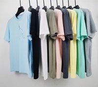Designer ctopstoney mens t shirt fábrica atacado moda mulheres camiseta básica algodão mangas de verão manga curta