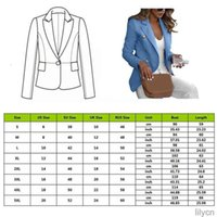 Plus Size Women's Long Sleeve Button Work Jacket Coat Outwear Top Suit Office Ladies Solid Casual Outwear Clothing