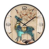 Relógios de parede Glass Kids Relógio Elegante Quarto Cute Menina Sala de estar Silent Reloj de Pared Decoração EA60WC