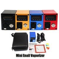Mini Dnail Enail Vaporizador E-cigarrillos Kits PID Temperatura Control Calentador Cuadro Mod Concentrado DAB Dispositivo Accesorios Cable de alimentación
