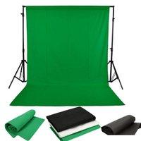 写真スタジオ背景素材不織布クロマキー背景背景1.6x3m / 5 x 10ftブラック/ホワイト/グリーンフォトライティング