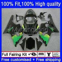 Faneros de molde de inyección para Suzuki GSX-R1000 Negro GREEN GSXR1000 K2 00-02 Bodywork 24NO.20 GSXR 1000 CC 1000CC 00 01 02 GSXR-1000 2000 2001 2002 Motorcycle OEM Bodys