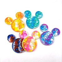 party Decompression Toys Push its Pop Fidget Cartoon Mouse-shaped Feature Popper Bubble Fingertip Sensory Toy for Children Gifts