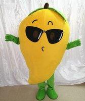Sonnenbrille Mango Bekleidung Maskottchen Kostüm Halloween Weihnachten Cartoon Charakter Outfits Anzug Werbung Flugblätter Kleidung Carnival Unisex Erwachsene Outfit