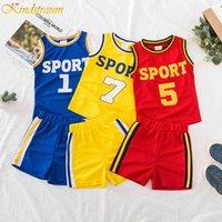 2019 Kids Basketball Jersey Children Basquetebol Bebê Tracksuit 2 Pcs Set Kids Boys / Girls Sports Roupas Set Outfit 085 x0509