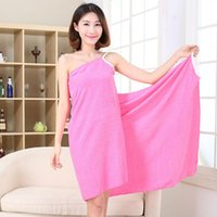 Towel Solid Color Home Textile Multi-functional Women Bath Robes Wearable Dress Lady Fast Drying Beach Spa Nightwear
