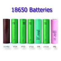 100% reale 2500mAh di alta qualità 18650 batteria ricaricabile da 18650 - 25R 30Q VTC6 VTC5 HG2 in magazzino Consegna gratuita di tasse