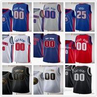 2021 Taslak Pick Baskılı Basketbol 2 Cade Cunningham Formalar Jerami Grant Cory Joseph Mason Plumlee Dennis Smith Killian Hayes Rodney McGruder Josh Jackson Okafor