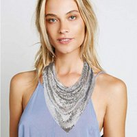 Pingente colares moda discoteca mulheres dourado preto metal lantejoulas triângulo cachecol personalidade colar colar garganta gargantilha