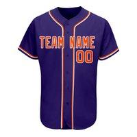 Adulte hommes et femmes respirant diverses uniformes de couleurs sublimes Nom Numéro Casual College Baseball usure
