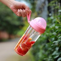 Frames T5EB 420 600ml Dual Straw Water Bottle Portable Separate Drink Beverage Cup Drinkware