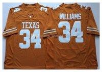 34 Ricky Williams Texas Longhorns 10 Vince Young 20 Earl Campbell NCAA College Football Jerseys Duplo Nome e Número