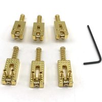 Golf Training Aids 6Pcs Electric Guitar ST Roller Bridge Tremolo Saddles With Wrench For Stratocaster Telecaster Gold