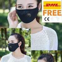 Free DHL PM2.5 Mouth Masks Anti Dust Smoke Face Mask Adjustable Reusable respirator mask with 1 Filter