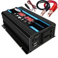 Reparatie Tools Kits 6000W Digitale Auto Inverter 12V naar 220 V Modified Sinus Wave Voltage Converter + LCD-scherm