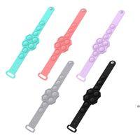 Party Favor Decompression Bracelet Fidget Toys Pops It Stress Relief Hand Wristband Soft Silicone Press Massage Toy OWF6933