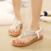 Beach Sandals Flip Flops Slide Women Summer Shoes Fashion Flat Crystal Ladies Clip Toed Gladiator Footwear