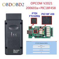 Code Readers & Scan Tools V5 OPCOM 2021 200603a For OP COM 1.95 PIC18F458 FTDI FT232RQ Chip Car Diagnostic Scanner OP-COM V2021