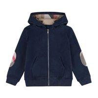 Vår Höst Baby Boys Jackor Kids Bomull Zipper Coats Barn Hooded Jacket Boy Outwear Barn Casual Cardigan Coat