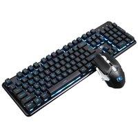 2400 DPI Home Ricaricabile 2.4 GHz Ergonomico Cool Rainbow Colorato Impermeabile PC wireless tastiera tastiera Mouse Combo backlit per Xinmen