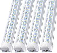 T8 V en forma de luces de tubo LED integradas 3FT 4FT 5FT 6FT 8 pies enfriador de 8 pies Iluminación 4 Fila Tienda Luces Tubos Formacion fluorescente
