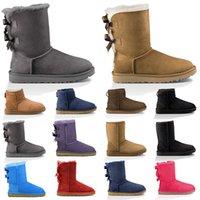 boots ucuz kadın kar botları üçlü siyah kestane kahverengi pembe lacivert moda klasik ayak bileği kısa çizme bayan bayanlar kızlar patik kış ayakkabıları