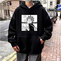 Men's Hoodies & Sweatshirts Janpanese Anime Haikyuu Hinata Shoy Men Women Funny Cartoon Printing Kawaii Manga Oversized Winter