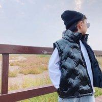 아이들 겨울 양복 조끼 outwear 아기 소녀 소년 코트 Gilet 소년 조끼 편지 인쇄 재킷 인쇄 옷 패션 방수 크기 100-140 Leisu