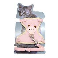 Ekose Bezi Kedi Yağları Kablo Demeti ve Tasma Set Yürüyüş Küçük Köpek Şeritleri Naylon Örgü Göğüs Kayışı Çekiş Halatı Pet Giysileri Yavru Malzemeleri