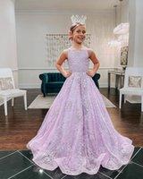 Full Lace Wedding Party Flower Girls' Dresses Crew Neck Sleeveless Princess Birthday Pageant Vestidos Zipper Back A Line Kids Formal Wear