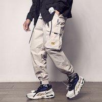 2021 Combinaisons de poche Couleur masculine Patchwork Casual Jogging Mode Pantalon tactique Trend Harajuku Street Pantalon Pantalon