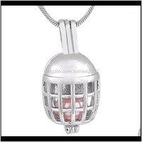 Chains Necklaces & Jewelry 18Kgp Coll Football Helmet Shape Gem Beads Cage Lockets Fantastic Pendants P1761 Drop Delivery 2021 Ltw5A