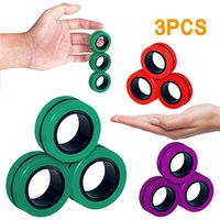 Fast Delivery 3pc Home & Garden FidgetToys Magnetic Bracelet Ring Unzip Magic RingProps Tools Decompression Fidget Toy Magnet Rings