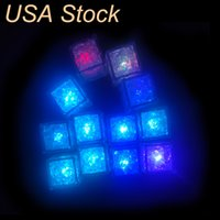Decoratie LED Ice Cubes Lights Bar Snelle Slow Flash Changing Crystal Cube Light-Up 7 Color voor Romantic Party Wedding Xmas Gift Oemled