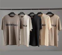 Fear Of God Essentials 3D силиконовая футболка 20ss Ins Горячая весна Лето хип-хоп футболка для скейтборда Fog Мужчины Женщины Повседневная футболка с короткими рукавами