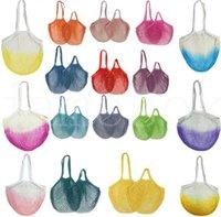 Home Storage Bags Shoppings Grocery Bag Reusable Shopper Tote Fishing Net Large Size Mesh Nets Woven Cotton Portable Shopping BagsOrganization DD031