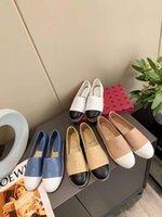 Tory Birch Fisherman Shoes esdames Chaussures Double Couche Design de luxe Sandales Plat Chaussons Femmes Beach Chaussures Chaussures de mode en plein air avec boîte