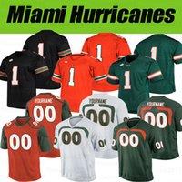 Personalizado Miami Hurricanes Jersey # 6 Miller # 5 Johnson # 16 Evan Shirreffs # 17 Stephen Morris Jerseys