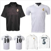 2001 2002 2003 Real Madrid Tentenary Home Soccer Trackss Zidane Figo Hierro Ronaldo Raul Classic Retro Футбольная футболка Урожай Джерси