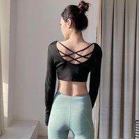 Lulu legging sonbahar ve kış yoga giysi bayan tops profesyonel zayıflama koşu spor uzun kollu streç sıkı internet sıcak egzersiz c