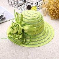 Moda Yetişkin Çiçek Tasarım Seyahat Kadınlar Güneş Şapka Geniş Brim Açık Balıkçılık UV Koruma Yaz Kapaklar Gelin Düğün Hediye Plaj J0226 290 Q2