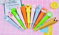 Pen Cute cartoon sponge decompression pinch music decompression soft neutral vent 0.5mm ball point